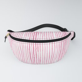 Pink Watercolor Stripes Fanny Pack