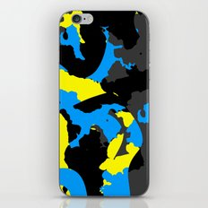 Black Blue yellow and Gray Abstract iPhone & iPod Skin