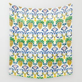 Pineapple Tiles Wall Tapestry