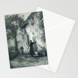 Morning Sun, Tuscany Italian Villa, Italy black and white photography - black and white photographs Stationery Cards