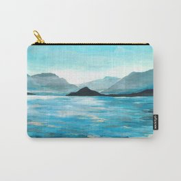 Lake Como, Seascape Original Painting Carry-All Pouch