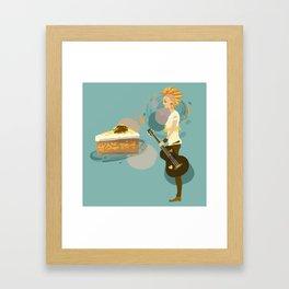 Pineapple Carrot Nut Cake Framed Art Print
