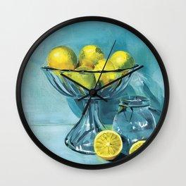 Aqua Glass Series #2 | Aqua Glass Lemonades Wall Clock