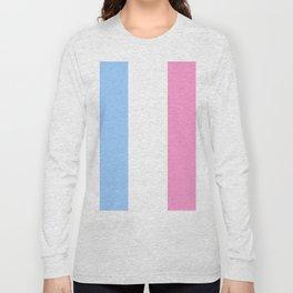 Parody of the french flag 2 -France,Paris, pink, Marseille, lyon, Bordeaux,love, girly,fun,idyll,Nic Long Sleeve T-shirt