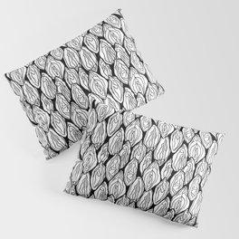 Vagina - Rama, White and Black Pillow Sham