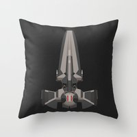 sith Throw Pillows featuring Sith Infiltrator  by IX Studio