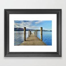 Derwent Water Pier Framed Art Print