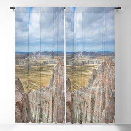 Badlands - Western Scenery in Badlands National Park South Dakota Blackout Curtain