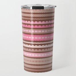 Vector ribbons and laces seamless borders Travel Mug
