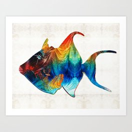 Trigger Happy Fish Art by Sharon Cummings Art Print