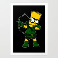 green arrow Art Prints featuring Arrow by Betmac
