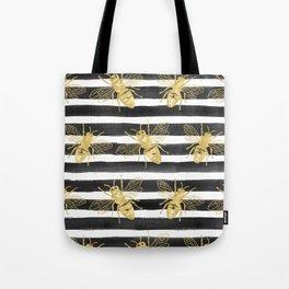 Golden bee noir Tote Bag
