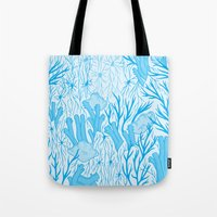 medicine Tote Bags featuring Modern Medicine by Nat Chartres