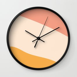 Abstract Sunset  Wall Clock