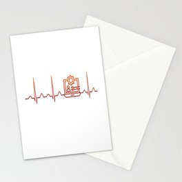 Software Engineer Heartbeat Stationery Cards
