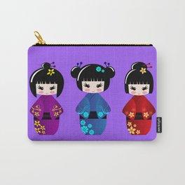 Cute kokeshi dolls cartoon Carry-All Pouch