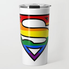 SuperGay rainbow! Travel Mug