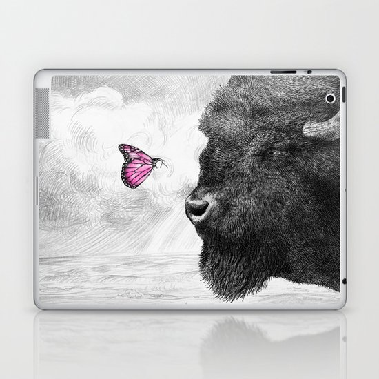 Bison and Butterfly Laptop & iPad Skin
