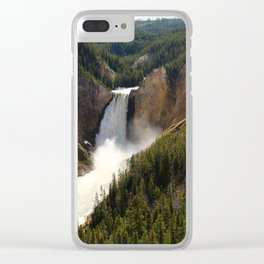 Majestic Upper Falls - Yellowstone Valley Clear iPhone Case