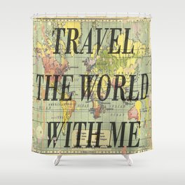 Travel With Me Shower Curtain
