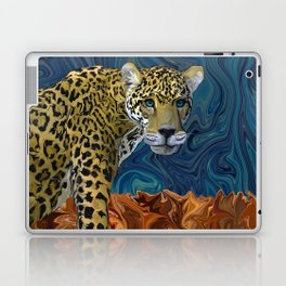 Leopard with the Sky in His Eyes Laptop & iPad Skin