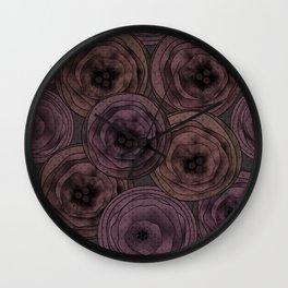 Chocolate velvet . Wall Clock