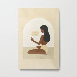 Be Like the Lotus Metal Print