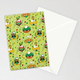 Monster Mash Green Stationery Cards