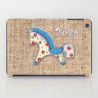 calendar iPad Cases featuring 2014 horse calendar by Katja Main
