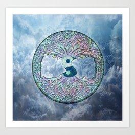 Blue Cloud Mandala Art Print