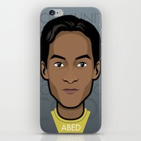 community iPhone & iPod Skins featuring Abed - Community by Mathieu Marcou