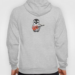 Baby Penguin Playing Bermudian Flag Acoustic Guitar Hoody