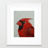 cardinal Framed Art Prints featuring Cardinal by Michael Creese