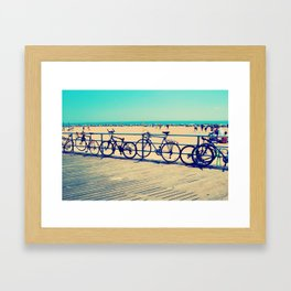 Coney Cycles Framed Art Print