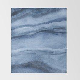 Indigo Blue Agate Pattern Throw Blanket