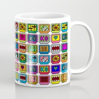 8 bit Mugs featuring 8-bit Game Cartridges by Raven Jumpo