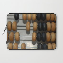 Manual mechanical abacus for accounting and financial calculations Laptop Sleeve