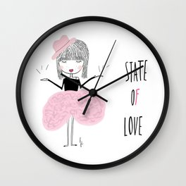 State of love Wall Clock