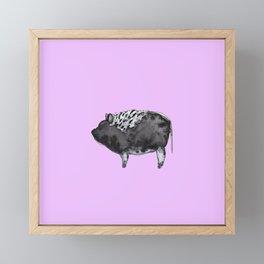 BUGSY in purple Framed Mini Art Print