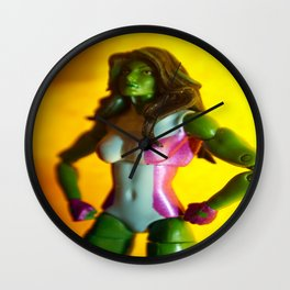 The Sensational She-Hulk Action Figure Wall Clock