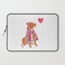 Watercolour Pit Bull Laptop Sleeve