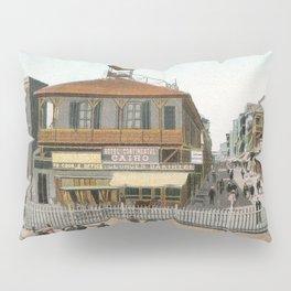 Vintage Egypt, port Said Commerce Street Pillow Sham
