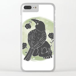 Crow and Skull Clear iPhone Case