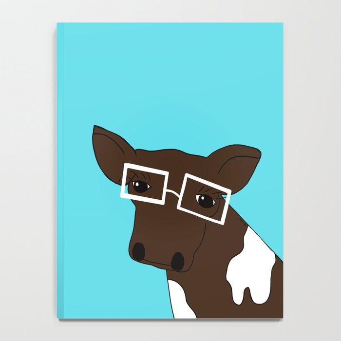 Matilda the Hipster Cow Notebook