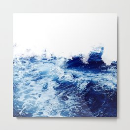 Blue sea water #society6 Metal Print