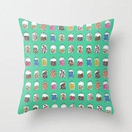 Candy Jars Throw Pillow