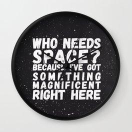 Who Needs Space? v.2 Wall Clock