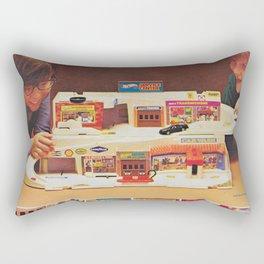 1982 Vintage Hot Wheels Service Center & Hot Bird Poster Rectangular Pillow