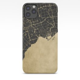 Toronto Gold and Black Street Map iPhone Case