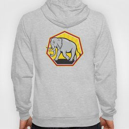 Angry Elephant Walking Cartoon Hoody